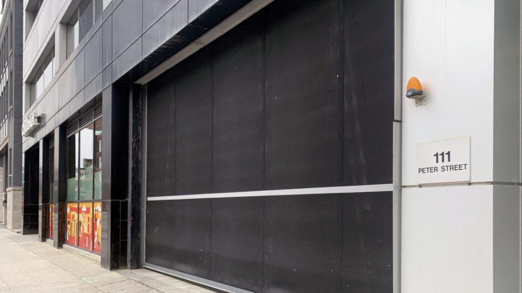 Crown Property Management – Springless Low Headroom Rubber Door