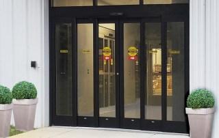 telescopic sliding automatic door office