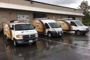 Pacific Dock & Door Service Trucks
