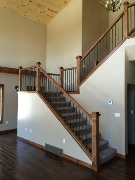 Stairs And Railings   Knotty Alder Stair Treads   Handrail   Stair Riser   Alder Wood Stair   Railing   Stair Railing