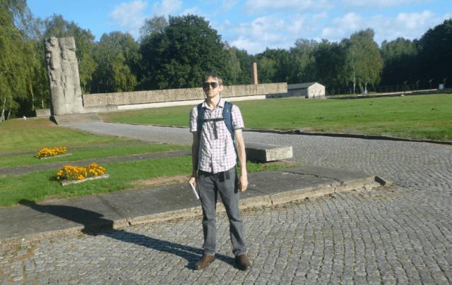 Jonny Blair at Stuthof German Concentration camp