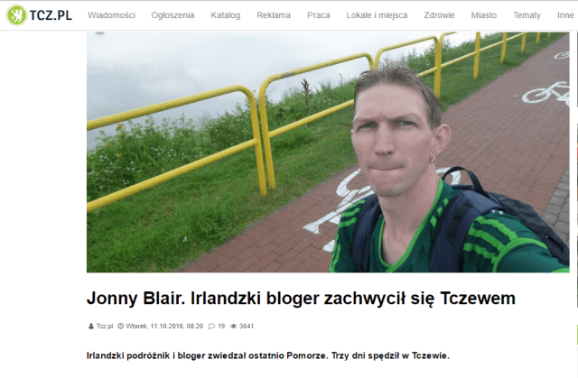 Work With Jonny Blair, Northern Irishman in Poland