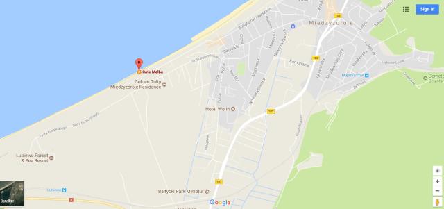 Cafe Melba is between Lubiewo and Miedzyzdroje