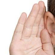 photo of ear listening