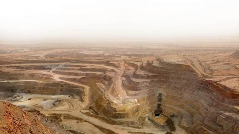 Open pit operations at the Bisha polymetallic mine 150km west of Asmara, Eritrea, East Africa. Credit: Nevsun Resources.