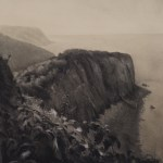 Charcoal Landscape Drawing of Hartland Point, Devon