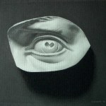 Charcoal cast drawing of the Eye of David by Christopher Clements