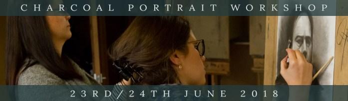 Northern Realist Charcoal Portrait Workshop, June 2018, link to webpage