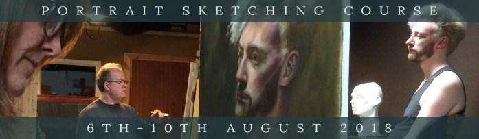 Northern Realist summer portrait sketching workshop 2018