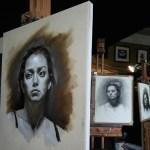 grisaille portrait study