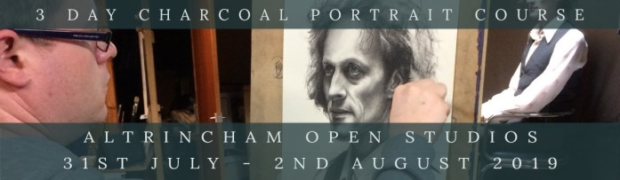 Link to Charcoal Portrait Course at Altrincham Open Studios