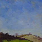 Plein Air Study by Christopher Clements of the White Nancy from Oakenbank Lane