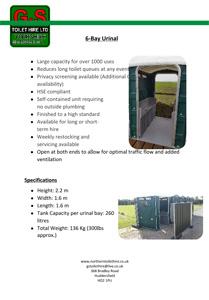 6-Bay Urinal