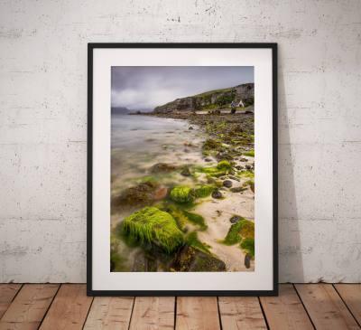 Isle of Skye Landscape photo, Elgol, Cottage, Scotland,  Scottish Highlands, Beach, Coast, Escape, Wall Art