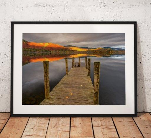 Lake District Landscape Photography, Derwentwater, ashness, Cumbria, England. Landscape Photo. Mounted print. sunrise.
