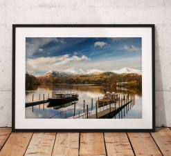 Lake District Landscape Photography, Derwentwater, Keswick, Snow, Winter, Cumbria, England. Landscape Photo. Mounted print. Wall Art.