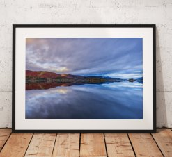 Lake District Landscape Photography, Derwentwater, Reflection, Cumbria, England. Landscape Photo. Mounted print. Wall Art.