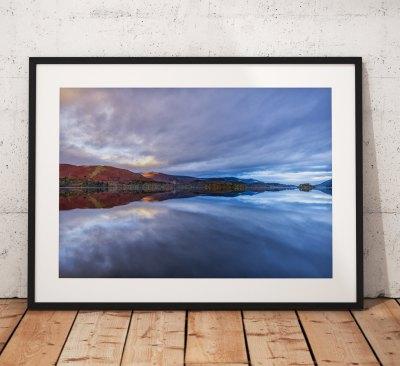 Lake District Landscape Photography, Derwentwater, Reflection, Cumbria, England. Landscape Photo. Mounted print. Wall Art.