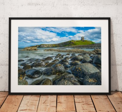 Northumberland Landscape photography, Dunstanburgh Castle. Craster, Coast, Seascape, England. Landscape Photo. Mounted print. Wall Art.