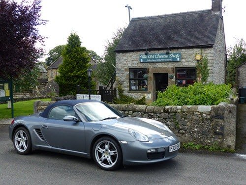 Porsche Boxster from Peak Performance Hire. Touring Derbyshire