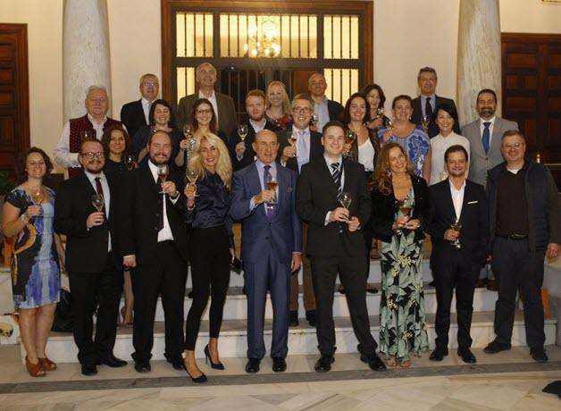Successful Students with Consejo Regulador President Beltran Domeeq