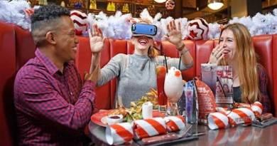 Virtual Reality Husky Sledding with Oculus at TGI Fridays