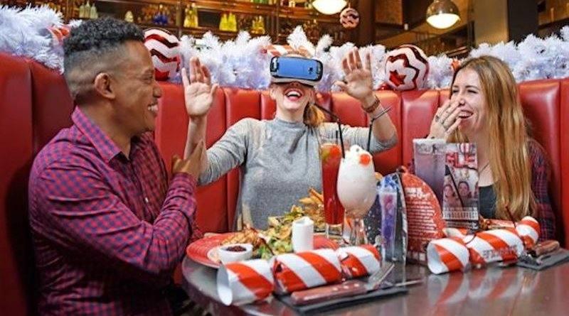 Virtual Reality Husky Sledding with Oculus at TGI Fridays