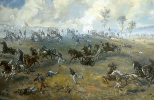 """Figure 2: """"Capture of Ricketts' Battery,"""" painting by Sidney E. King"""