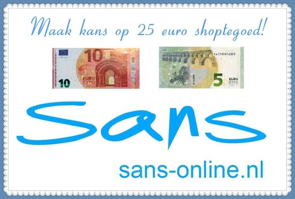 Winactie: Maak kans op €25,- shoptegoed bij Sans-online