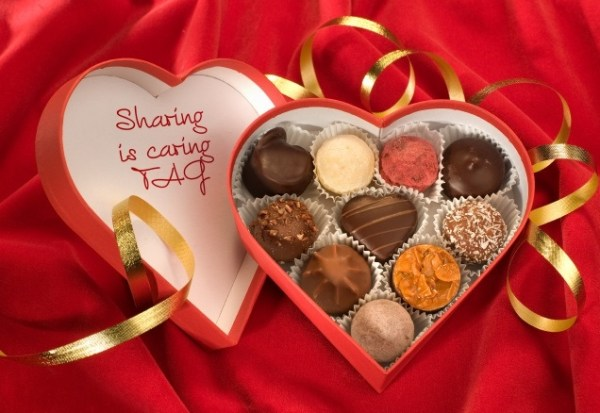 sharing is caring chocolade doos