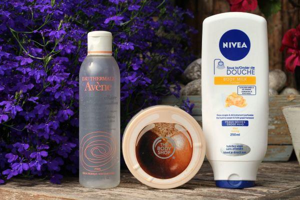 opgemaakte_producten_artikelen_nivea_body_milk_honey_avene_the_body_shop_scrub