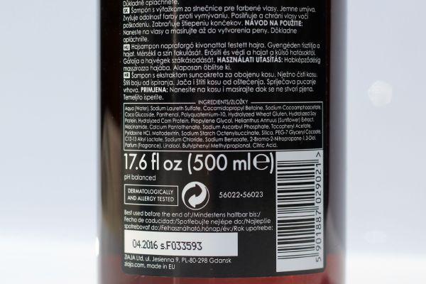 ziaja sunflower shampoo ingredienten review