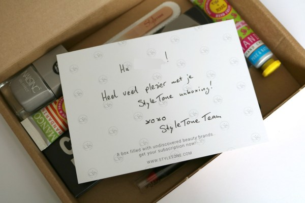 review ervaring inhoud styletone box februari 2016 editie 2