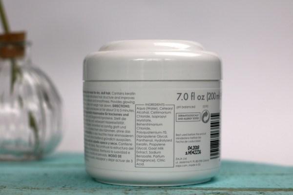 ziaja_review_geitenmelk_haarmasker_ingredienten