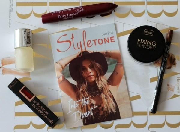 review unboxing inhoud styletone box juli 2016 wibo fixing powder cd