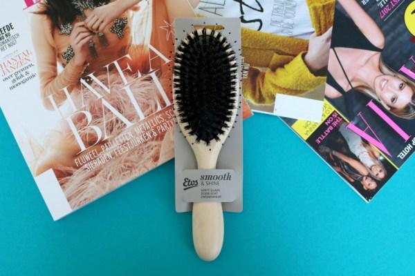 review ervaringen Etos Smooth & Shine haarborstel met echt zwijnenhaar glans