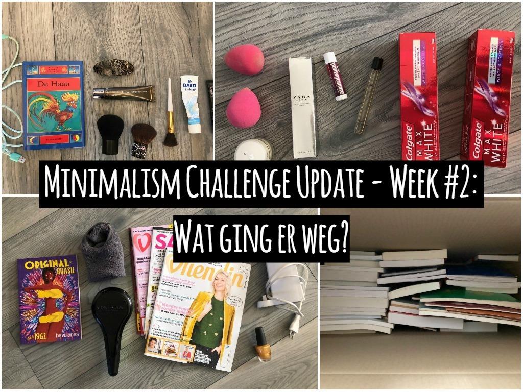Minimalism Challenge Update – Week #2: Wat ging er weg?