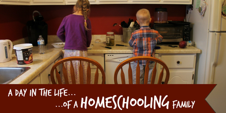A Day In The Life Of A Homeschooling Family