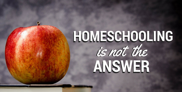 Homeschooling Is Not The Answer