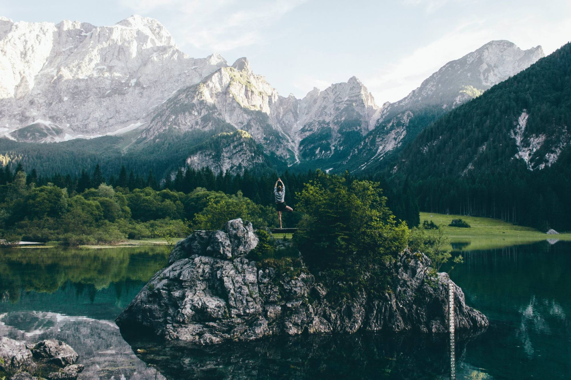background image of lake in the mountains