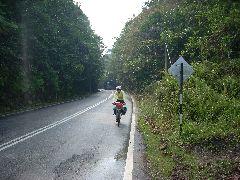 Nic riding in Malaysia