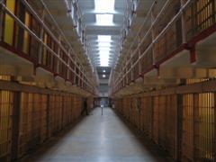 Main hallway between cells