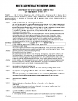 Town Council Minutes 20 July 2011