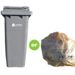 Grey-refuse-bin-and-beige-sack