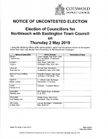 Uncontested Election – Northleach with Eastington Town Council