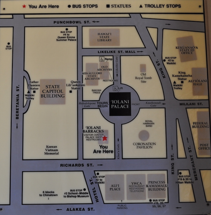 Iolani Palace map