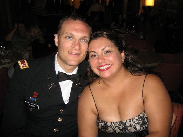 At a wedding shortly after returning from Iraq (2007)