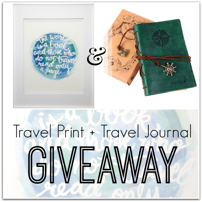 Travel Print + Journal Giveaway copy
