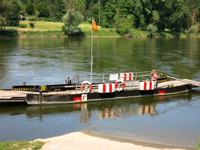 Weltenburg Ferry Raft Danube