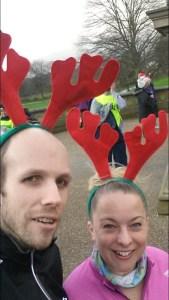 Rocking the reindeer antlers